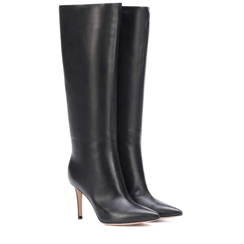 ジャンヴィト ロッシ レディース シューズ・靴 ブーツ【Suzan 85 leather boots】Black