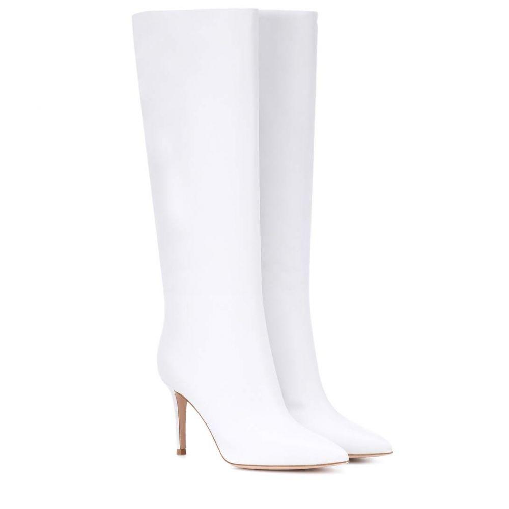 ジャンヴィト ロッシ レディース シューズ・靴 ブーツ【Suzan 85 leather boots】White