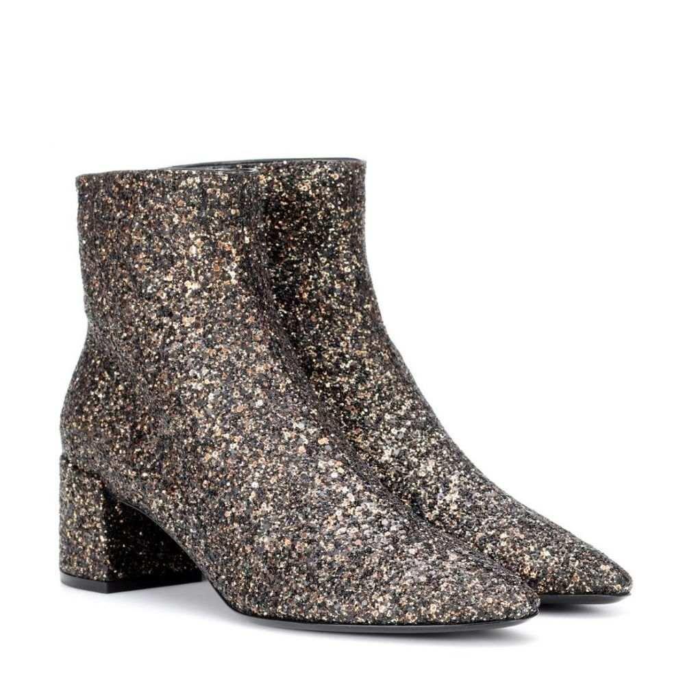 イヴ サンローラン レディース シューズ・靴 ブーツ【Loulou 50 glitter ankle boots】Glit