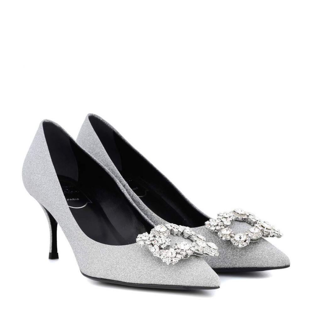 ロジェ ヴィヴィエ レディース シューズ・靴 パンプス【Flower Strass glitter pumps】Silver