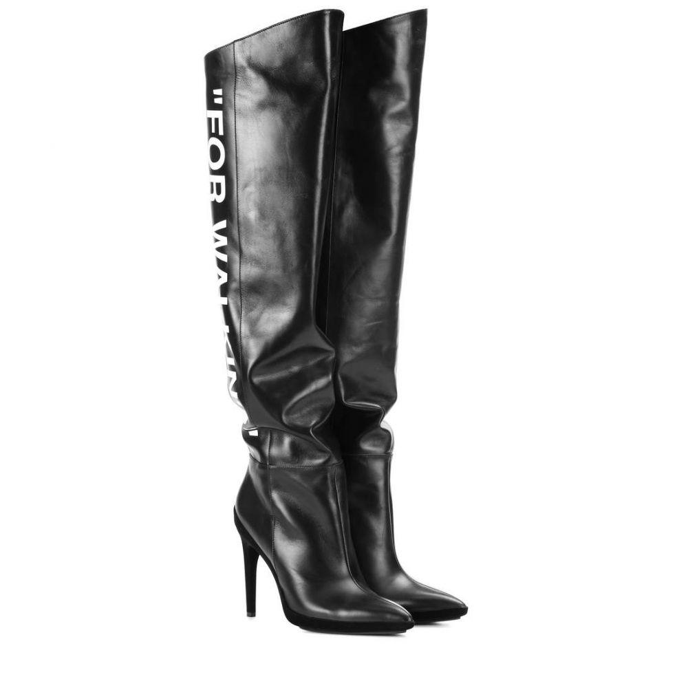 オフ-ホワイト Off-White レディース シューズ・靴 ブーツ【Leather boots】Black Whit