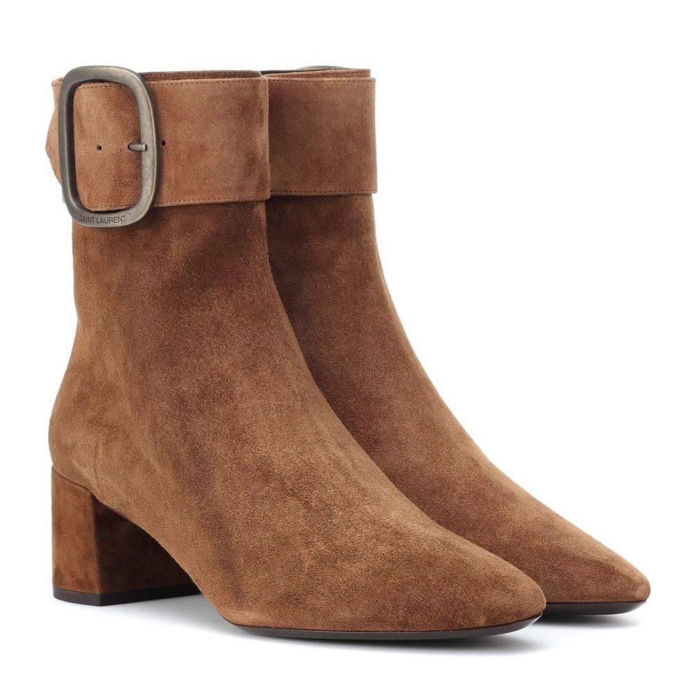 イヴ サンローラン Saint Laurent レディース シューズ・靴 ブーツ【Joplin 50 suede ankle boots】Land