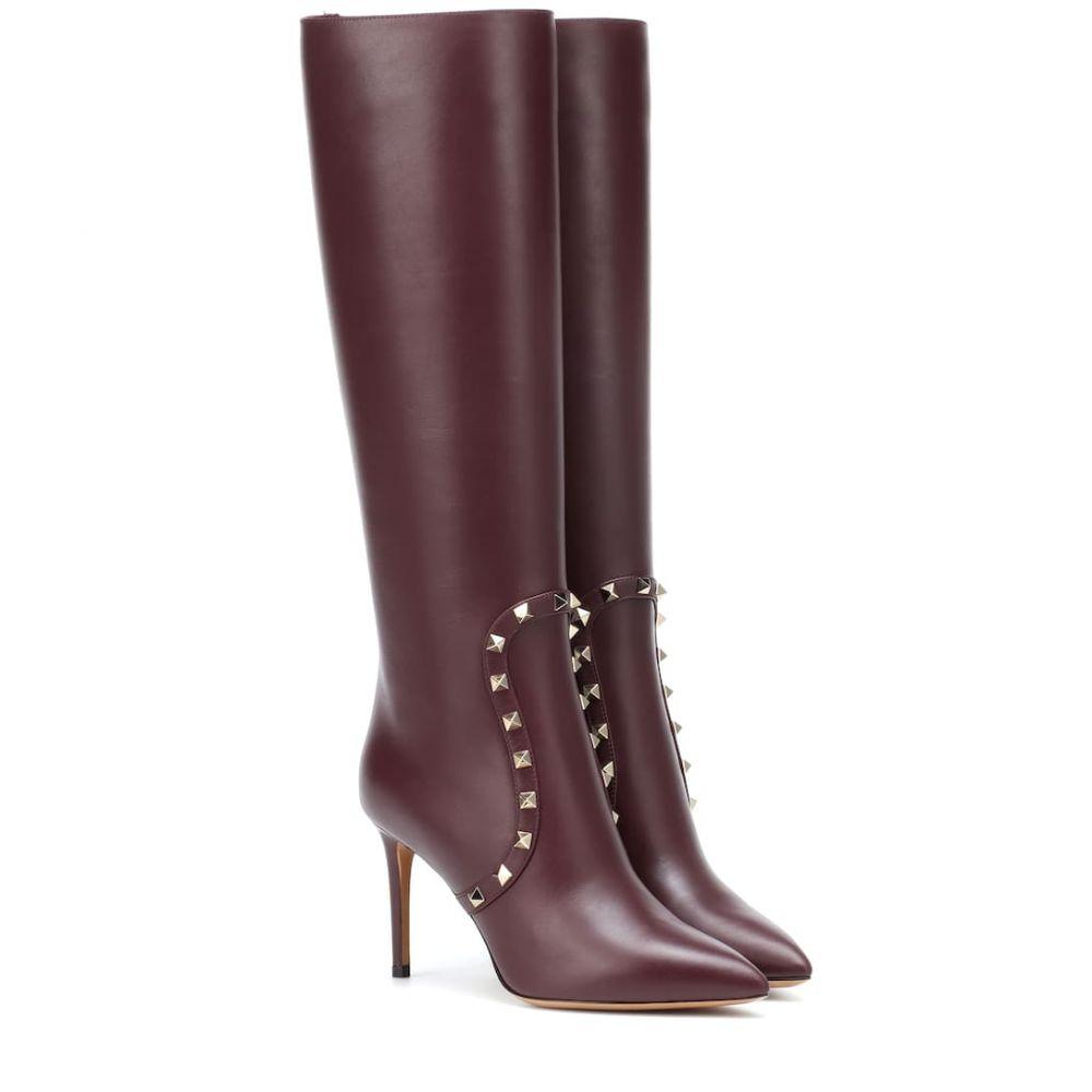 ヴァレンティノ Valentino レディース シューズ・靴 ブーツ【Garavani knee-high leather boots】Rubin