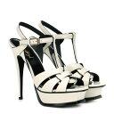 イヴ サンローラン Saint Laurent レディース シューズ・靴 サンダル・ミュール【Tribute 105 patent leather sandals】Neutro