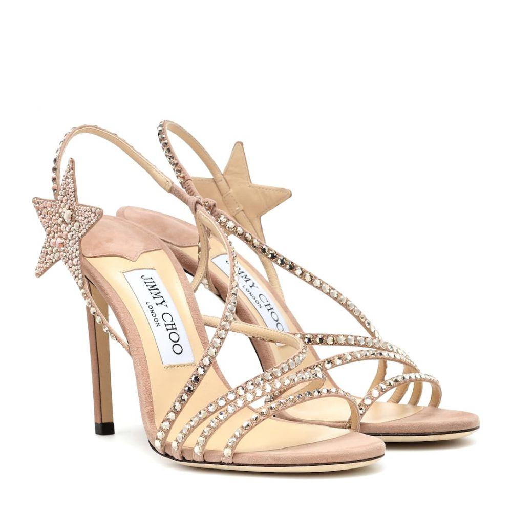 ジミー チュウ Jimmy Choo レディース シューズ・靴 サンダル・ミュール【Lynn 100 embellished suede sandals】Balletpink