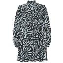 ショッピングforever ガニー Ganni レディース ワンピース ワンピース・ドレス【tiger-print cotton minidress】Forever Blue