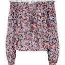 ショッピングレディス プーペット セント バース Poupette St Barth レディース ブラウス・シャツ トップス【Exclusive to Mytheresa - Clara floral cotton blouse】Blue Gerbera