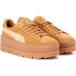 プーマ Fenty by Rihanna レディース スニーカー シューズ・靴【cleated creeper suede sneakers】Golden Brown/Lark