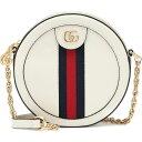 ショッピングHID グッチ Gucci レディース ショルダーバッグ バッグ【ophidia mini round leather shoulder bag】M.White/Brb