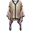 ショッピングベルト ロベルト カヴァリ Roberto Cavalli レディース ブラウス・シャツ トップス【Leopard-print silk blouse】Cherry/Black/Tan