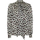 ショッピングイヴサンローラン イヴ サンローラン Saint Laurent レディース ブラウス・シャツ トップス【Leopard-Print Silk Blouse】Multi