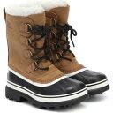 ショッピングスノー ソレル Sorel レディース ブーツ シアリング スノーブーツ シューズ・靴【Caribou Shearling And Nubuck Snow Boots】Elk