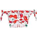 ショッピングチューブトップ アレクサンドラ ミロ Alexandra Miro レディース ベアトップ・チューブトップ・クロップド ビスチェ トップス【Poppy printed cotton bustier】Cherry