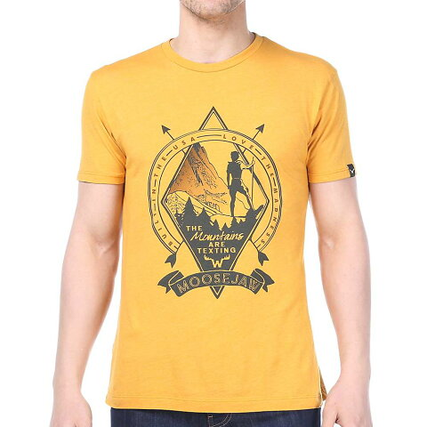 ムースジョー メンズ トップス Tシャツ【Moosejaw Talk Dirty To Me Vintage Slim SS Tee】Golden Yellow