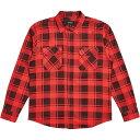 ショッピングサイズ ブリクストン Brixton メンズ シャツ トップス【bowery lw ls flannel】Red/Black