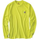 burberry brit - カーハート Carhartt メンズ 長袖Tシャツ トップス【high-visibility force color enhanced ls t-shirt】Brite Lime