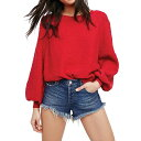フリーピープル レディース トップス トレーナー【Free People Found My Friend Sweatshirt】Red