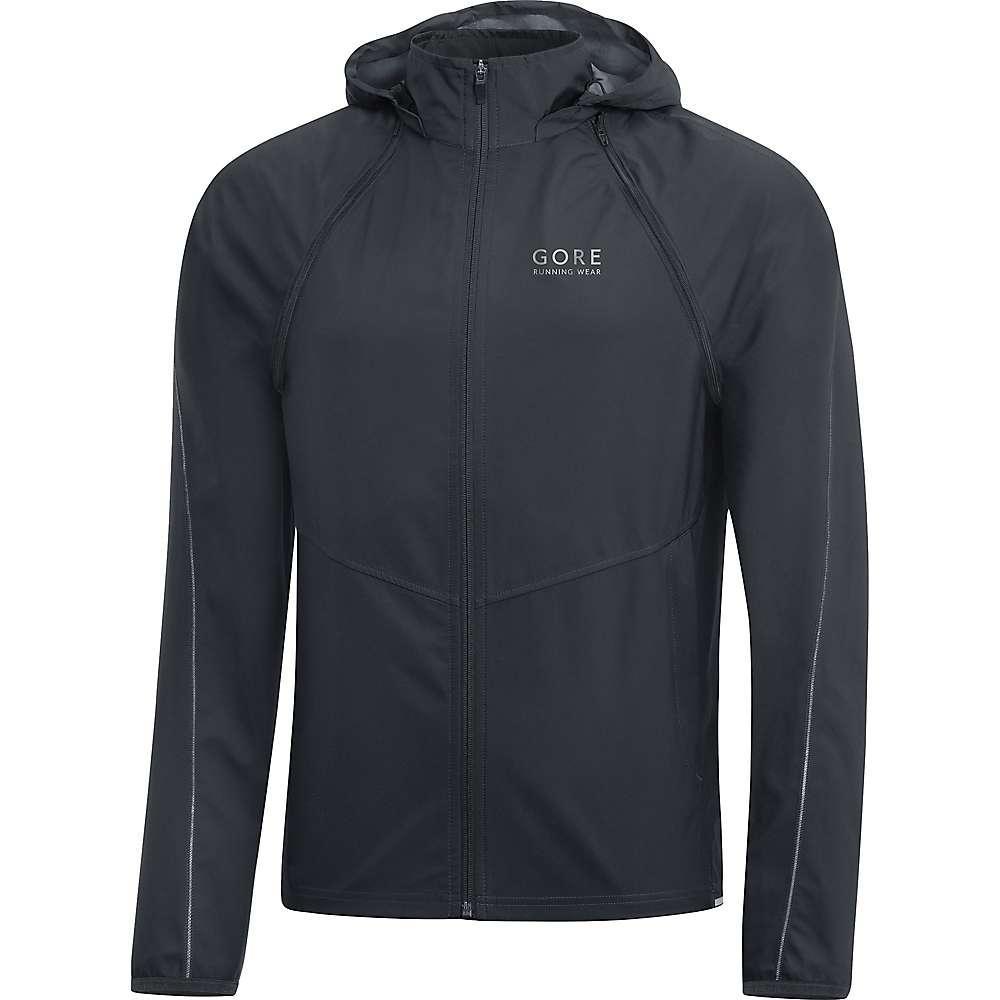 ゴア メンズ ランニング・ウォーキング アウター【Gore Running Wear Essential Gore Windstopper Zip-Off Jacket】Black