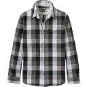 ティンバーランド メンズ トップス シャツ【Timberland Back River Brushed Oxford Check Shirt】Black YD