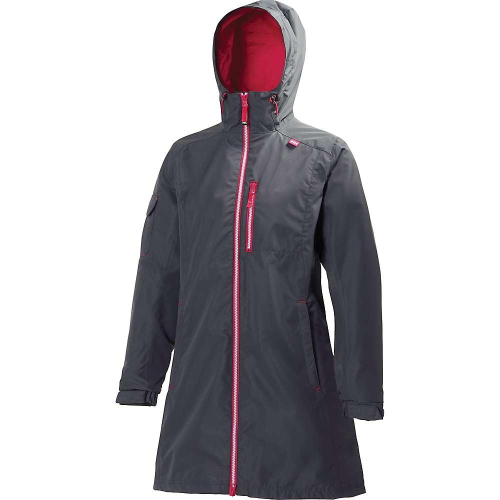 ヘリーハンセン レディース アウター レインコート【Long Belfast Jacket】Charcoal