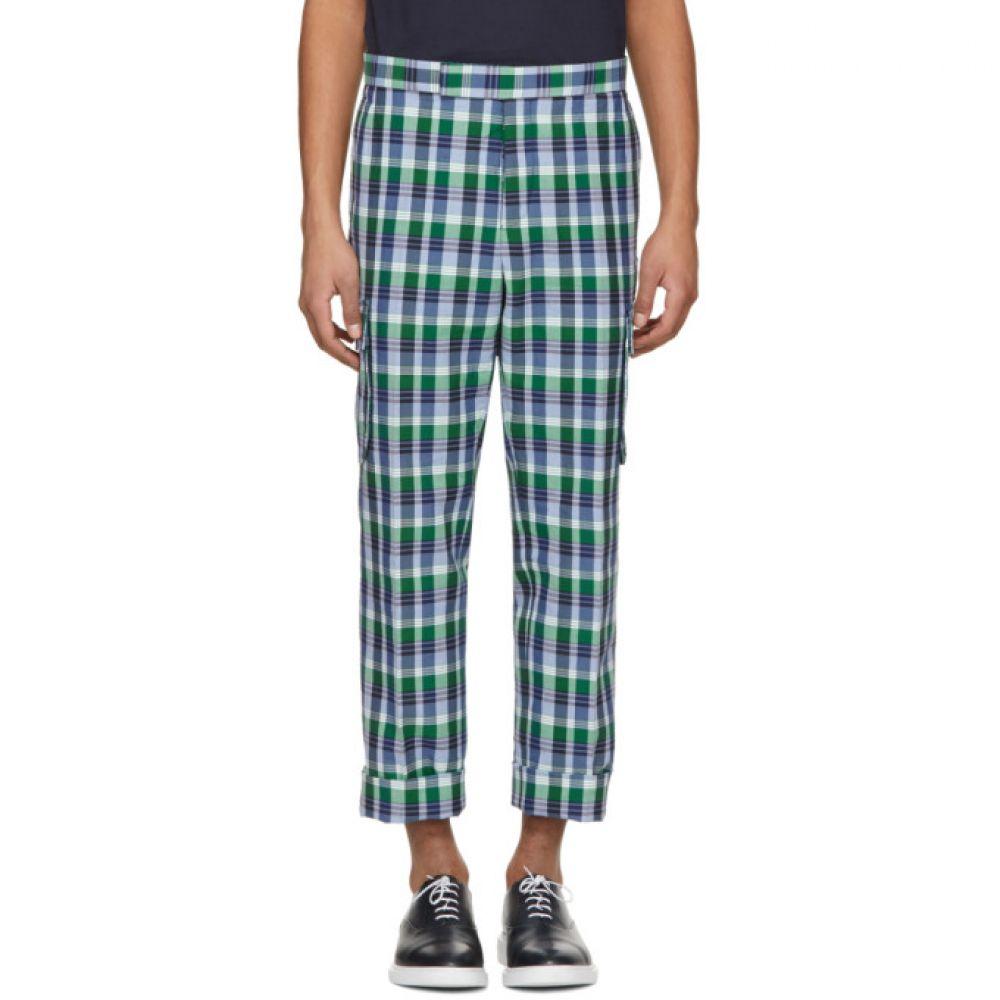 トム ブラウン メンズ ボトムス・パンツ【Blue Madras Gusseted Patch Pocket Trousers】