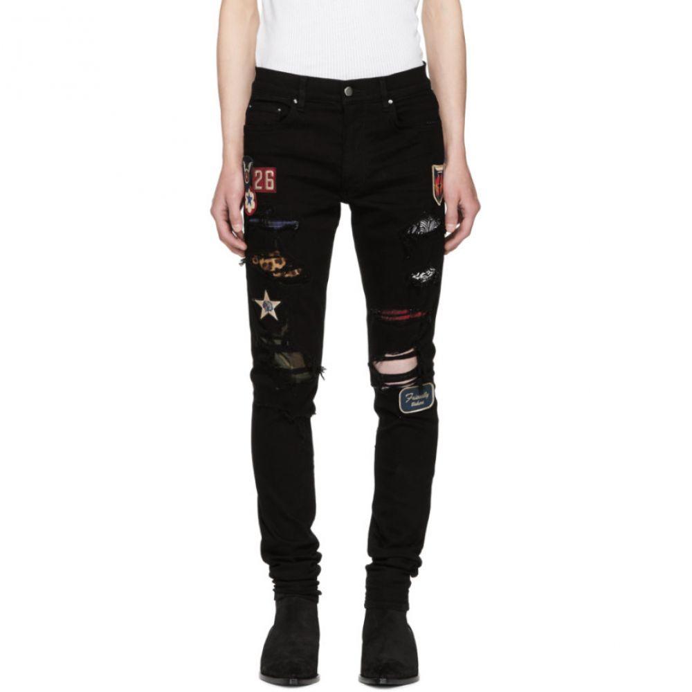 アミリ メンズ ボトムス・パンツ ジーンズ・デニム【Black Art Patch Painted Jeans】