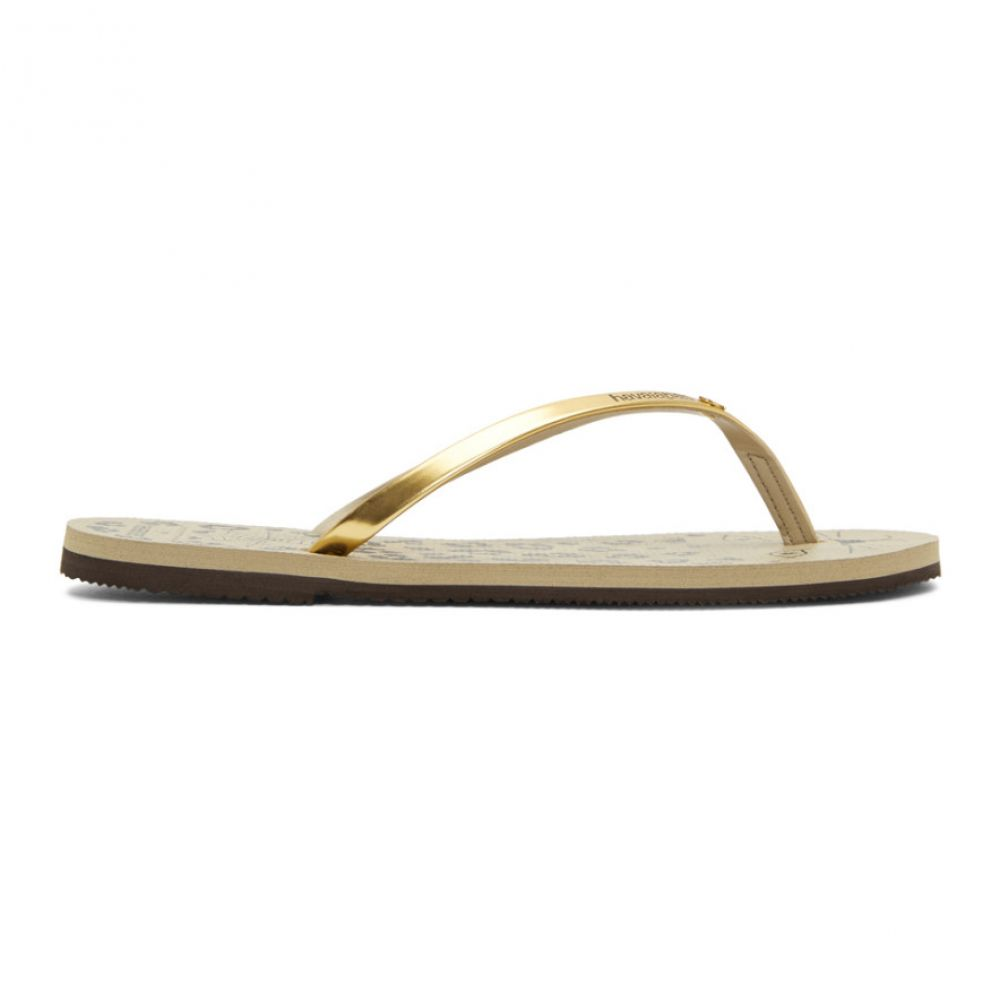 シャーロット オリンピア レディース シューズ・靴 サンダル・ミュール【Beige & Gold Havaianas Edition Kitty Sandals】