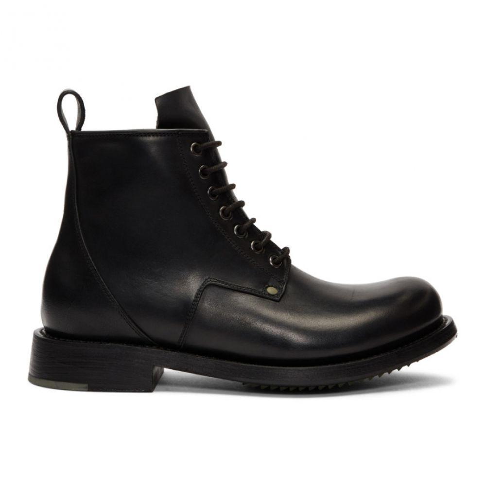 リック オウエンス メンズ シューズ・靴 ブーツ【Black Cop Boots】