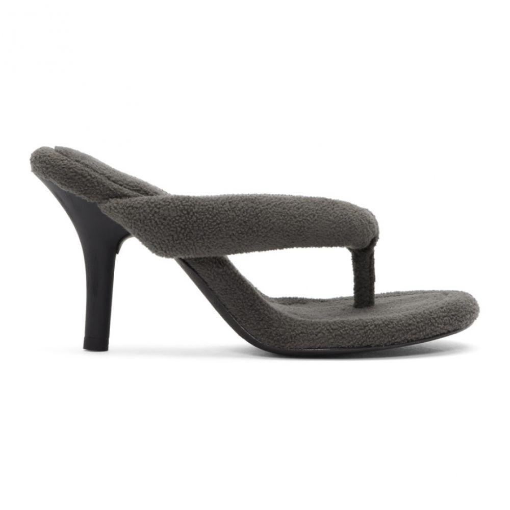 アディダス イージー YEEZY レディース シューズ・靴 サンダル・ミュール【Black Fleece Thong Sandals】