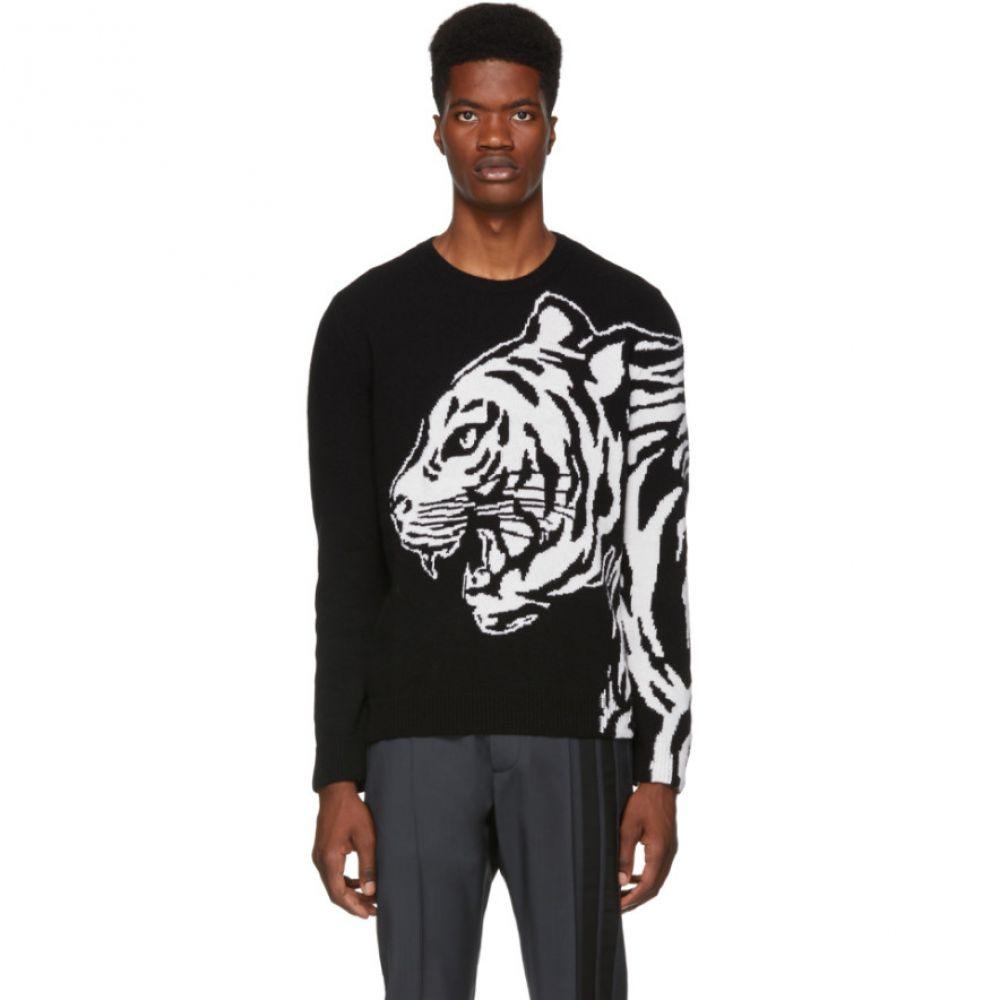 ヴァレンティノ Valentino メンズ トップス ニット・セーター【Black & White Tiger Sweater】