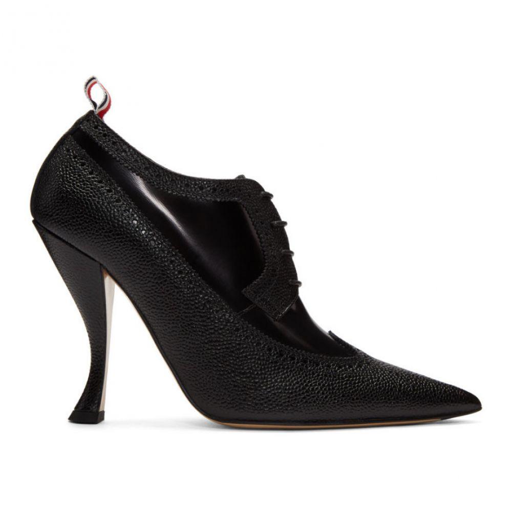 トム ブラウン Thom Browne レディース シューズ・靴 ヒール【Black Longwing Brogue Curved Heels】