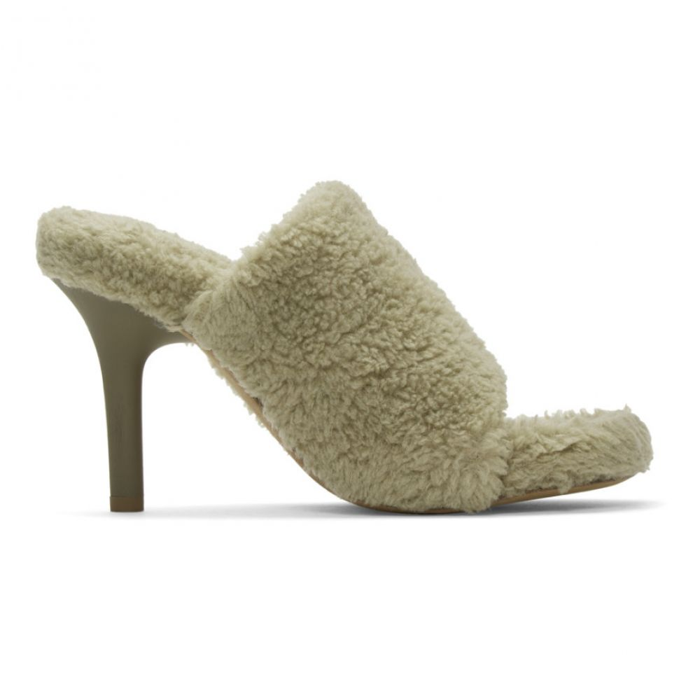 アディダス イージー YEEZY レディース シューズ・靴 サンダル・ミュール【Taupe Faux-Shearling Mules】