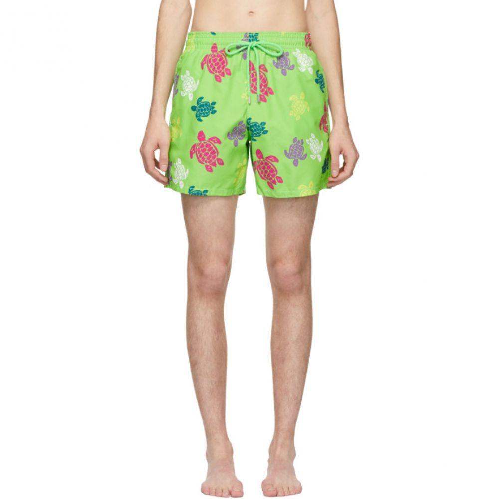 ヴィルブレクイン Vilebrequin メンズ 水着・ビーチウェア 海パン【Green Tortues Multicolores Moorea Shorts】