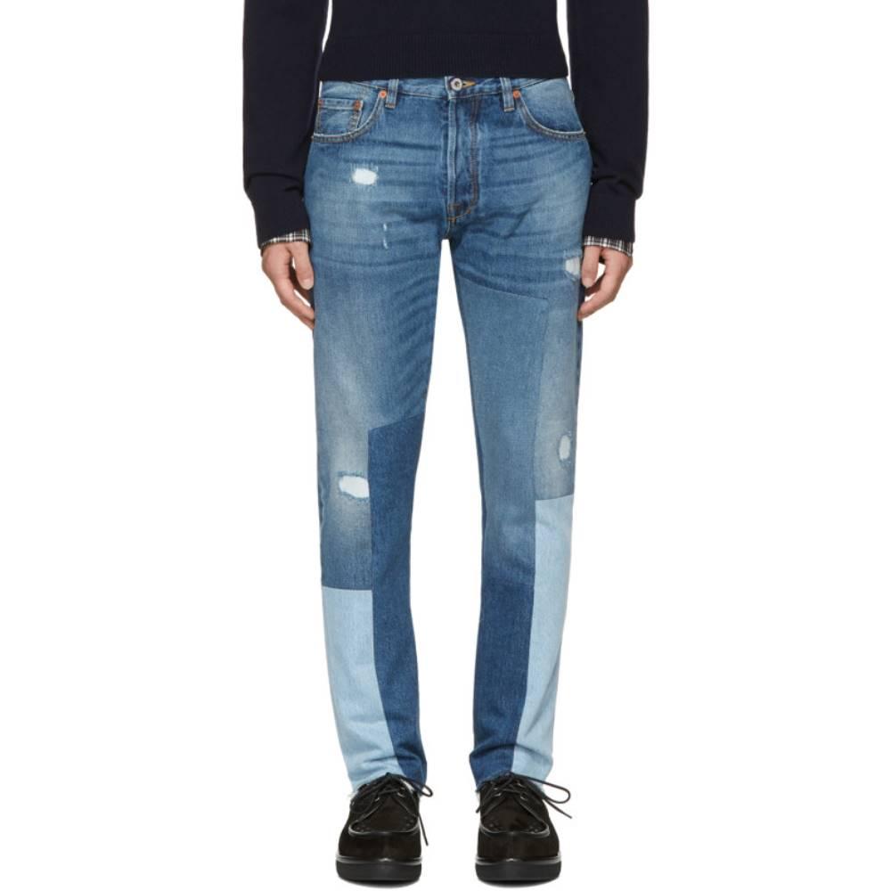 ヴァレンティノ メンズ ボトムス・パンツ ジーンズ・デニム【Blue Patchwork 003 Jeans】