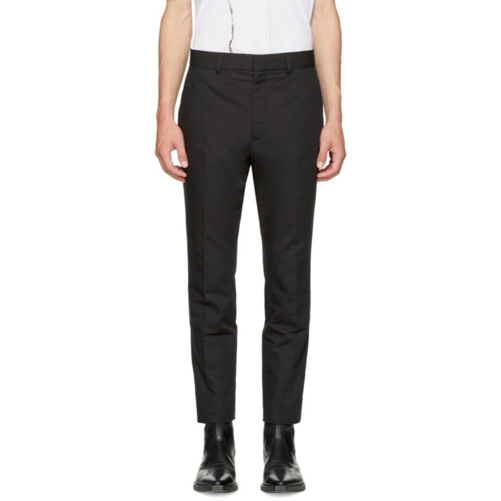ハイダー アッカーマン メンズ ボトムス・パンツ【Black Linen Slim Trousers】 ハイダー アッカーマン メンズ ボトムス・パンツ その他ボトムス・パンツ  【サイズ交換無料】【?高い】