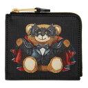 ショッピングMAGICIAN モスキーノ Moschino メンズ 財布 【Black Magician Teddy Bear Zip Wallet】Black