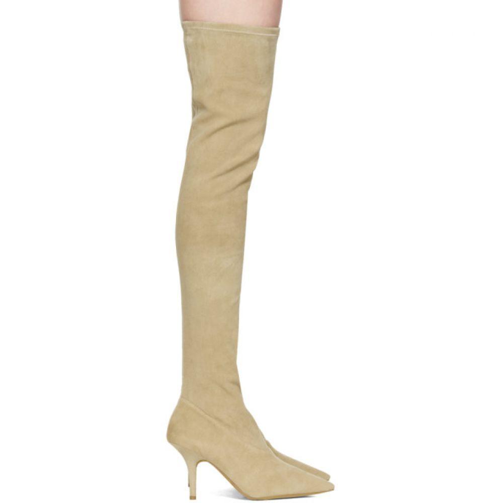 アディダス イージー レディース シューズ・靴 ブーツ【Taupe Suede Thigh-High Boots】