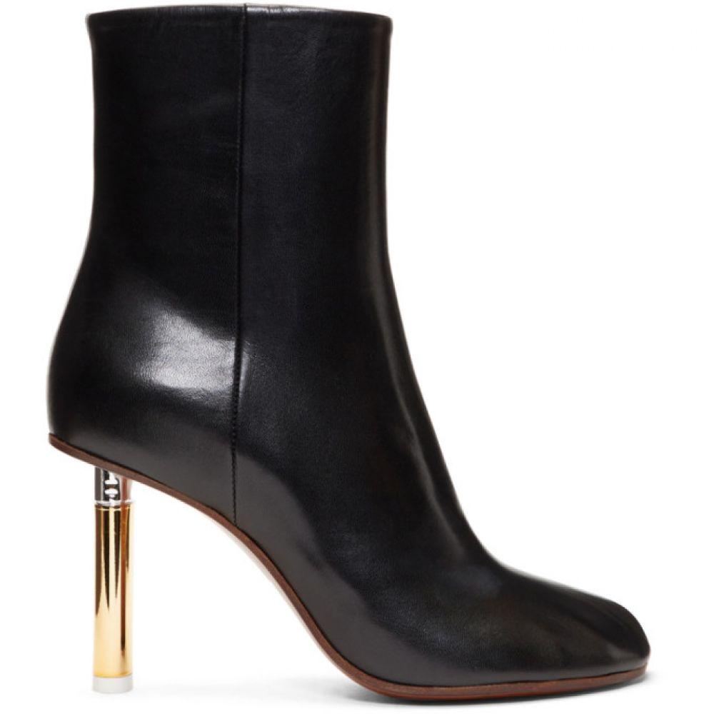 ヴェトモン レディース シューズ・靴 ブーツ【Black & Gold Lighter Heel Boots】