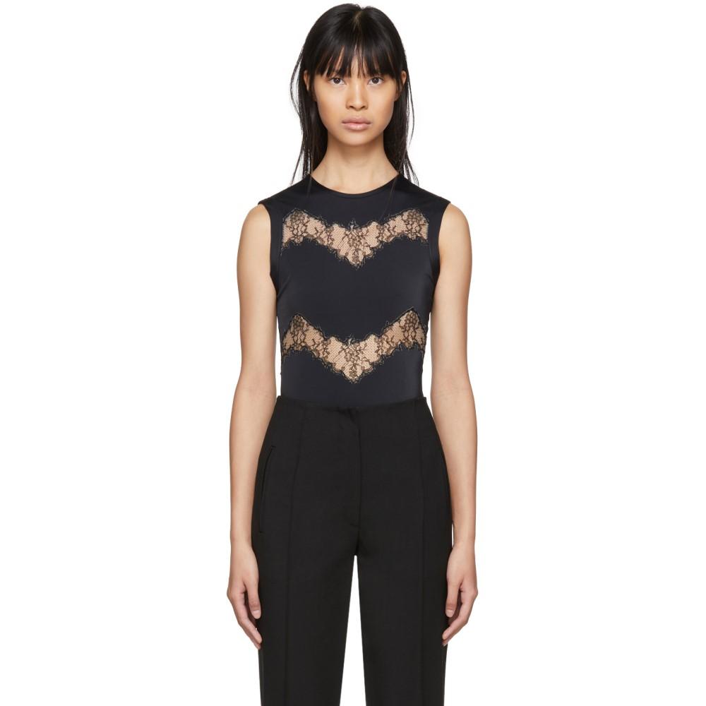 ヴァレンティノ レディース インナー・下着 ボディースーツ【Black Lace Cut-Out Bodysuit】