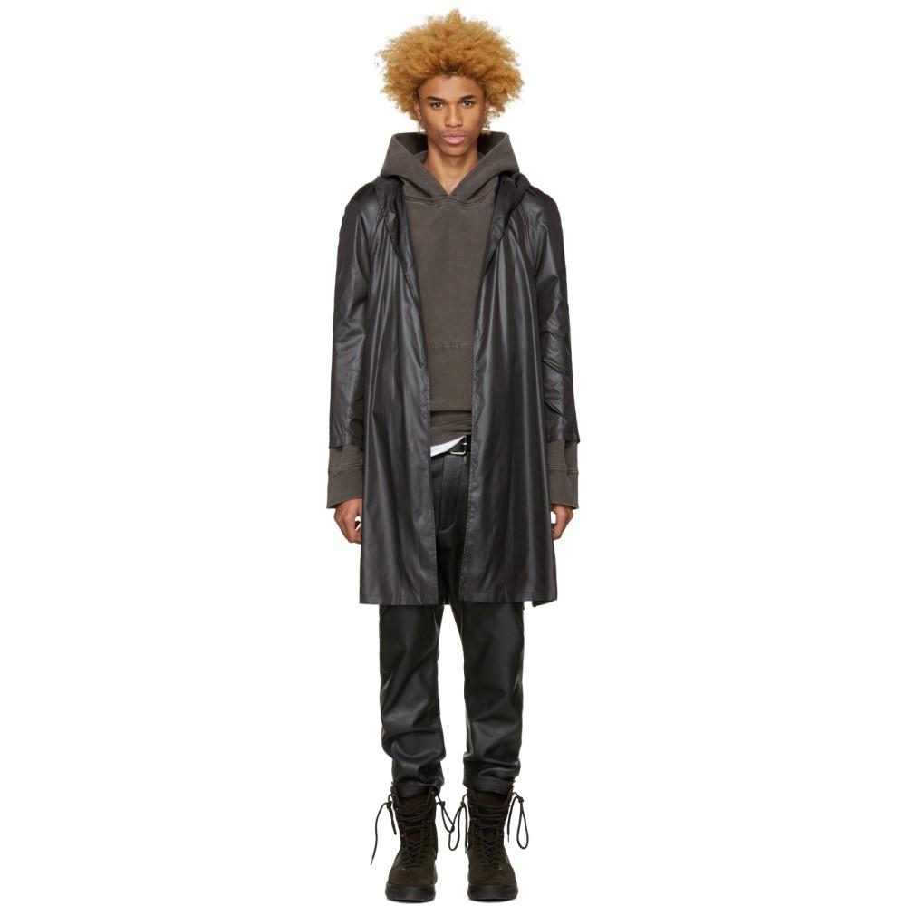 アコールドウォール メンズ アウター レインコート【Black Nylon Raincoat】