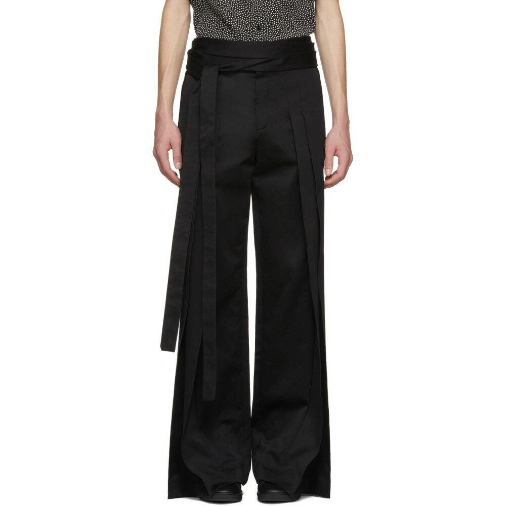 イヴ サンローラン メンズ ボトムス・パンツ【Black Pleated Trousers】