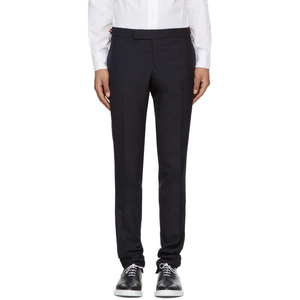 トム ブラウン メンズ ボトムス・パンツ スキニー・スリム【Navy Low-Rise Skinny Trousers】