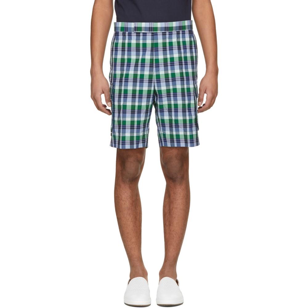 トム ブラウン メンズ ボトムス・パンツ ショートパンツ【Blue Madras Gusseted Patch Pocket Shorts】