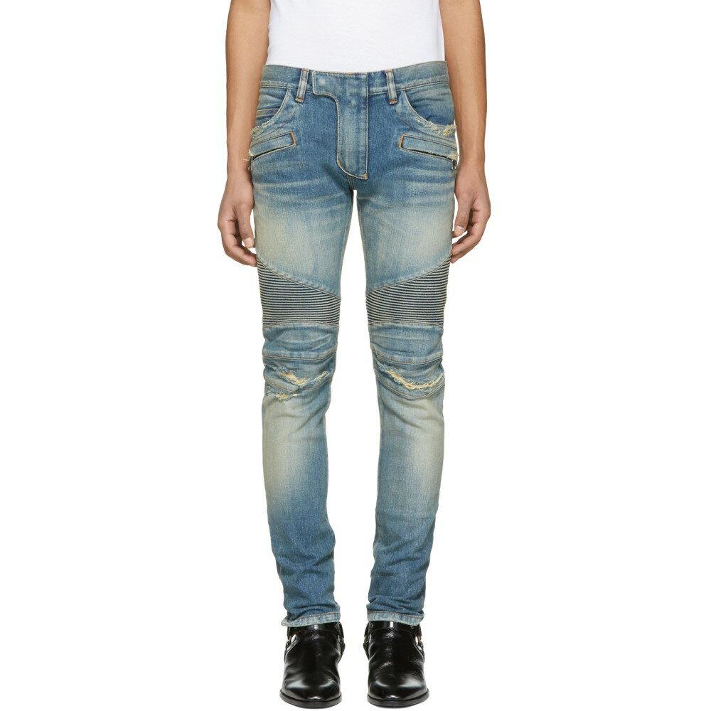 バルマン メンズ ボトムス・パンツ ジーンズ・デニム【Blue Biker Jeans】