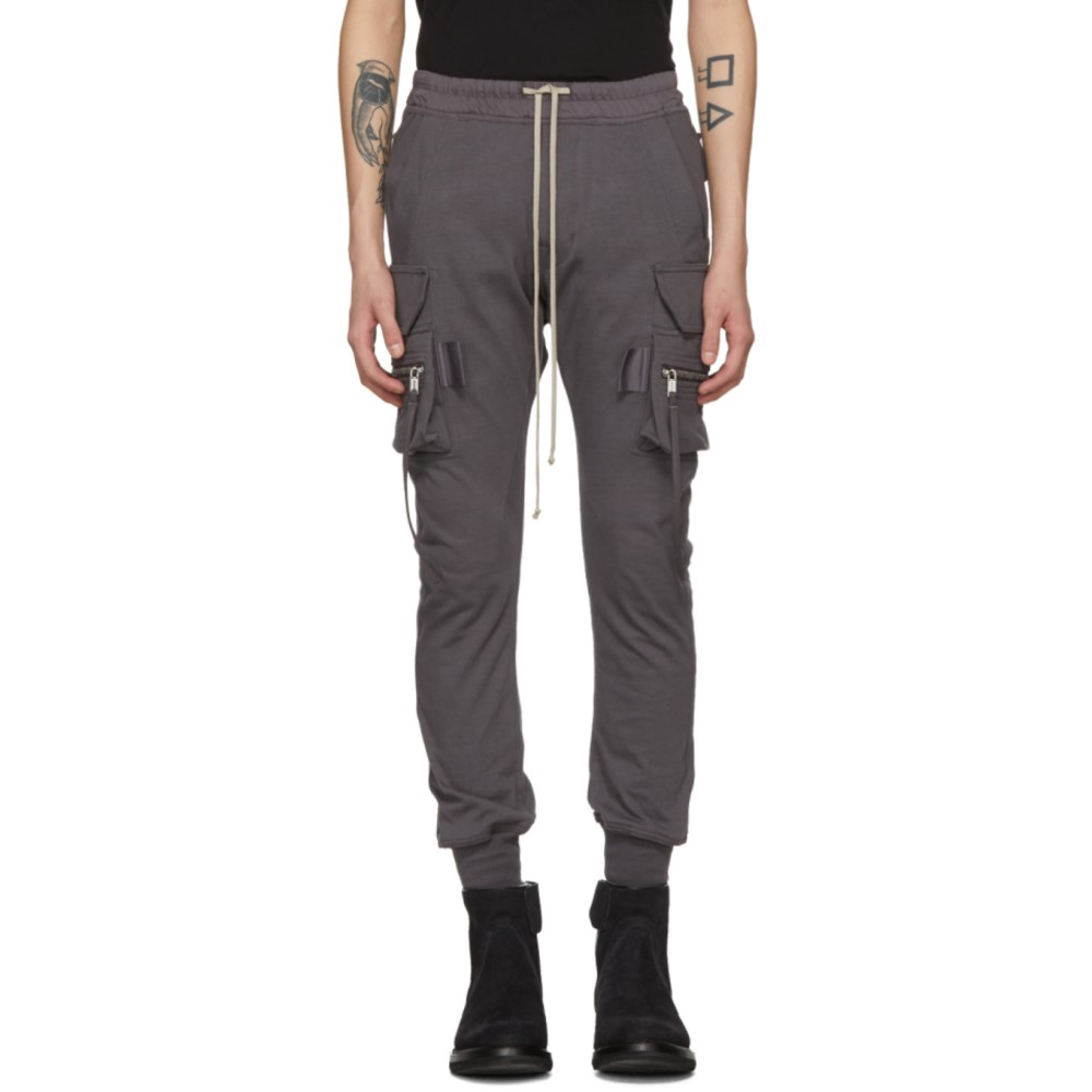 リック オウエンス メンズ ボトムス・パンツ カーゴパンツ【Grey Cotton Jog Cargo Pants】