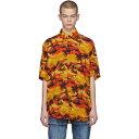 バレンシアガ メンズ トップス シャツ【Orange Norm Fit Hawaiian Shirt】