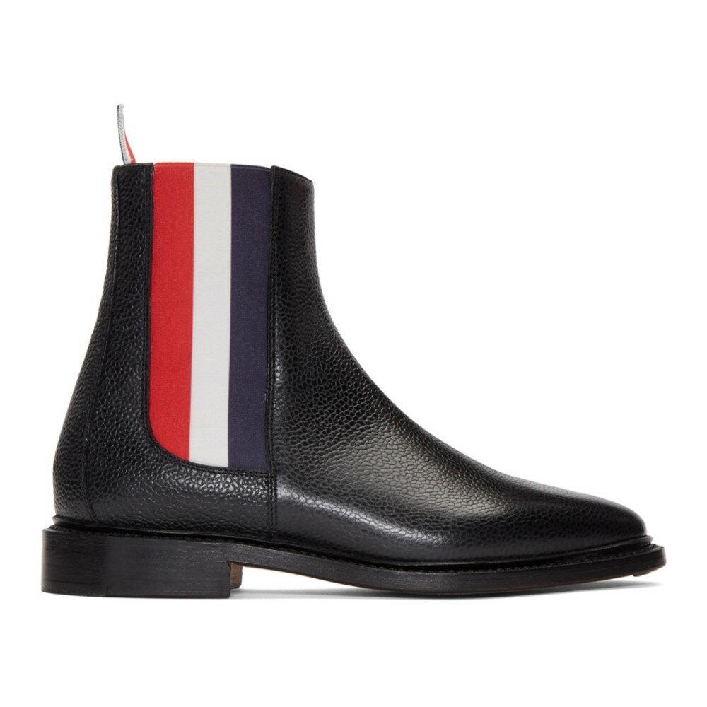 トム ブラウン レディース シューズ・靴 ブーツ【Black Tricolor Chelsea Boots】