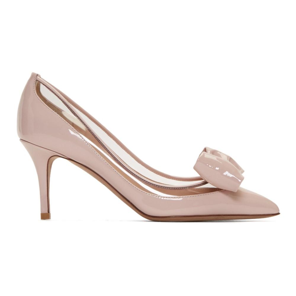 ヴァレンティノ レディース シューズ・靴 ヒール【Pink Valentino Garavani Glassglow Heels】
