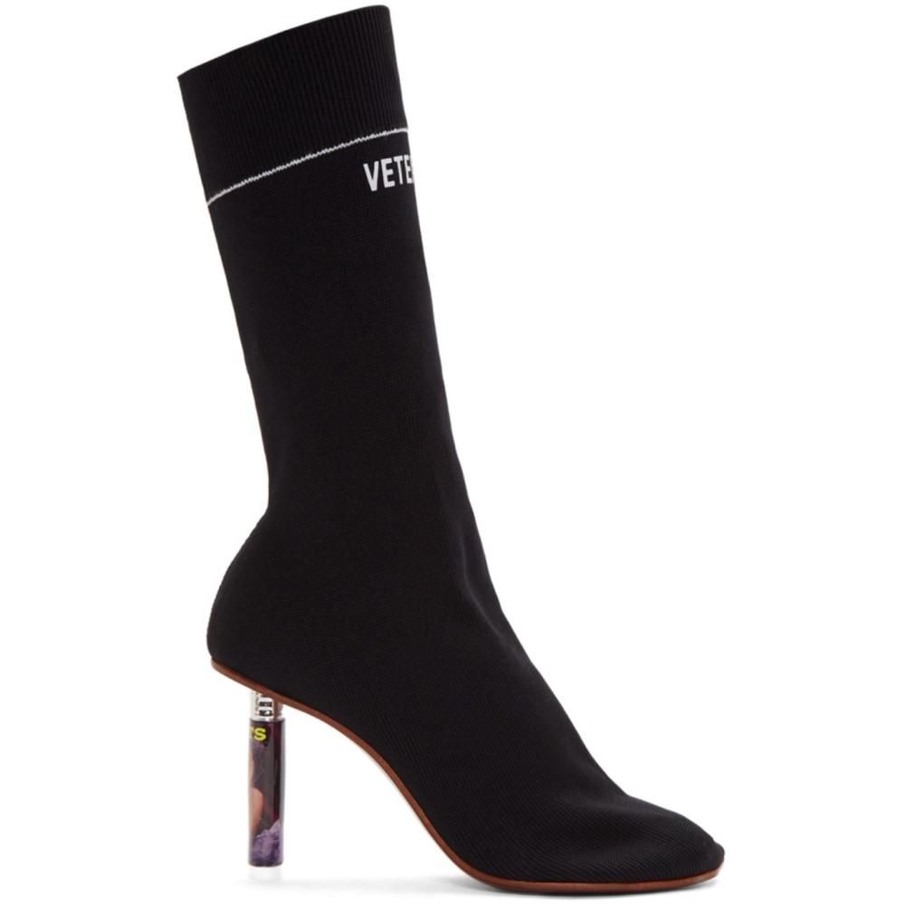 ヴェトモン レディース シューズ・靴 ブーツ【Black Lighter Heel Sock Boots】