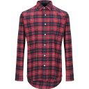 ショッピングワイシャツ サルヴァトーレピッコロ SALVATORE PICCOLO メンズ シャツ トップス【checked shirt】Red